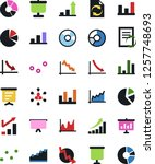 vector icon set   growth chart... | Shutterstock .eps vector #1257748693