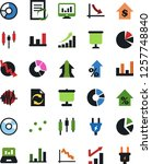 vector icon set   growth chart... | Shutterstock .eps vector #1257748840