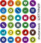 white solid icon set ... | Shutterstock .eps vector #1257749659