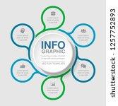 vector infographic template for ... | Shutterstock .eps vector #1257752893