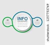 vector infographic template for ... | Shutterstock .eps vector #1257753769