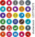 white solid icon set  cleaner... | Shutterstock .eps vector #1257754273