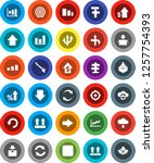 white solid icon set  graph... | Shutterstock .eps vector #1257754393
