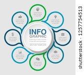 vector infographic template for ... | Shutterstock .eps vector #1257754513