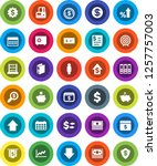 white solid icon set  abacus... | Shutterstock .eps vector #1257757003