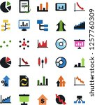 vector icon set   growth chart... | Shutterstock .eps vector #1257760309