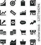 solid black vector icon set  ... | Shutterstock .eps vector #1257764296