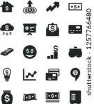 solid black vector icon set  ... | Shutterstock .eps vector #1257766480