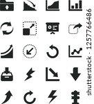 solid black vector icon set  ... | Shutterstock .eps vector #1257766486