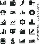 solid black vector icon set  ... | Shutterstock .eps vector #1257766546