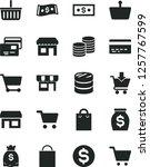 solid black vector icon set  ... | Shutterstock .eps vector #1257767599