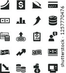 solid black vector icon set  ... | Shutterstock .eps vector #1257770476