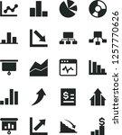 solid black vector icon set  ... | Shutterstock .eps vector #1257770626