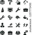 solid black vector icon set  ... | Shutterstock .eps vector #1257772450