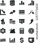 solid black vector icon set  ... | Shutterstock .eps vector #1257772633