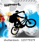 vector image of bmx cyclist | Shutterstock .eps vector #125779379