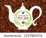 international tea day  december ... | Shutterstock .eps vector #1257801976