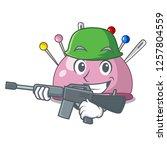 army wicker basket on a... | Shutterstock .eps vector #1257804559