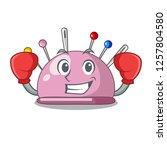 boxing wicker basket on a... | Shutterstock .eps vector #1257804580