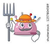 farmer wicker basket on a... | Shutterstock .eps vector #1257804589