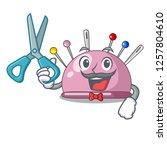 barber wicker basket on a... | Shutterstock .eps vector #1257804610