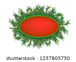 christmas 3d pine tree branches ... | Shutterstock . vector #1257805750