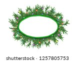 christmas 3d pine tree branches ... | Shutterstock . vector #1257805753