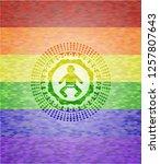 baby icon inside emblem on... | Shutterstock .eps vector #1257807643