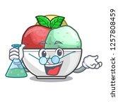 professor sorbet with mint bowl ...   Shutterstock .eps vector #1257808459