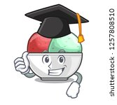 graduation sorbet with mint...   Shutterstock .eps vector #1257808510