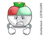 angry scoops of sorbet in...   Shutterstock .eps vector #1257811090