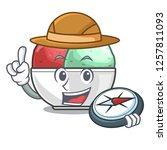 explorer scoops of sorbet in...   Shutterstock .eps vector #1257811093