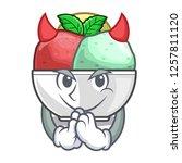 devil scoops of sorbet in...   Shutterstock .eps vector #1257811120