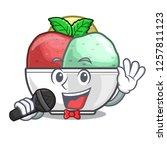 singing scoops of sorbet in...   Shutterstock .eps vector #1257811123