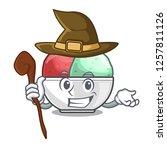 witch scoops of sorbet in...   Shutterstock .eps vector #1257811126