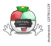 virtual reality scoops of...   Shutterstock .eps vector #1257811129