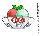 super hero sorbet with mint...   Shutterstock .eps vector #1257817270