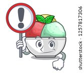 with sign sorbet ice cream in...   Shutterstock .eps vector #1257817306