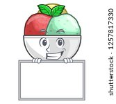 grinning with board sorbet ice...   Shutterstock .eps vector #1257817330