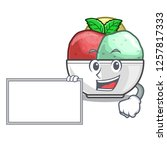 with board sorbet ice cream in...   Shutterstock .eps vector #1257817333