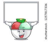 up board sorbet ice cream in...   Shutterstock .eps vector #1257817336