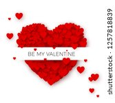 happy valentine s day greeting... | Shutterstock . vector #1257818839