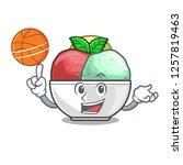 with basketball sorbet ice...   Shutterstock .eps vector #1257819463