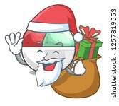 santa with gift sorbet ice with ...   Shutterstock .eps vector #1257819553