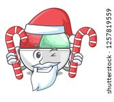 santa with candy sorbet ice...   Shutterstock .eps vector #1257819559