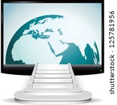 access to the internet and... | Shutterstock .eps vector #125781956