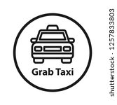 grab taxi icon. simple line... | Shutterstock .eps vector #1257833803