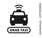 grab taxi icon. simple line... | Shutterstock .eps vector #1257833806