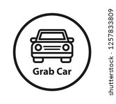 grab car icon. simple line icon.... | Shutterstock .eps vector #1257833809