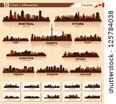 city skyline set. canada.... | Shutterstock .eps vector #125784038